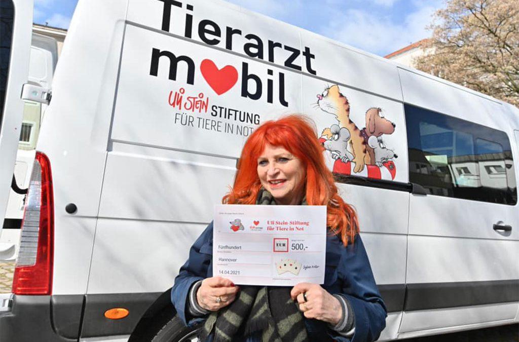 Spendenaktion für die Uli Stein-Stiftung für Tiere in Not